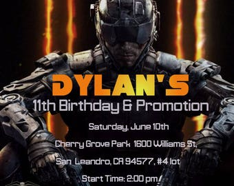 Call of Duty Birthday Invitation