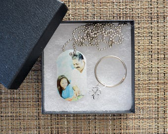 Personalized  Photo Dog Tag Keychain, Custom Photo Tag, Picture Dog Tag, Custom photo keychain, Personalized gift, holiday gifts, tag 104