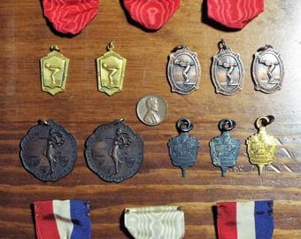 Old Swimming Medals From Denver Colorado Area