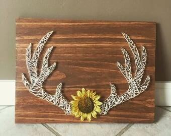 Deer Antler String Art