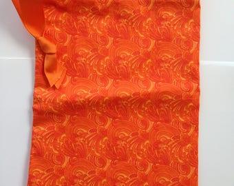 Sew Simple orange swirls print drawstring bag