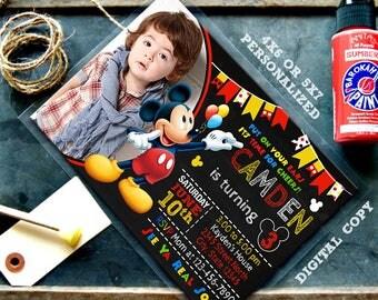 Mickey Mouse Invitation, Mickey Mouse Birthday, Mickey Invitation, Mickey Mouse Party, Mickey Mouse Invite, Mickey Party, Mickey Mouse