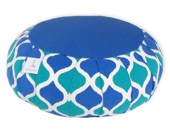 Organic | Zafu | Meditation cushion | Buckwheat hulls | basaho Blue Classic