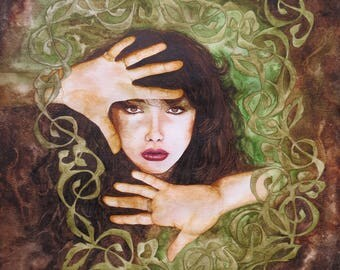 "Under the Ivy Kate Bush print 10"" x 12"""