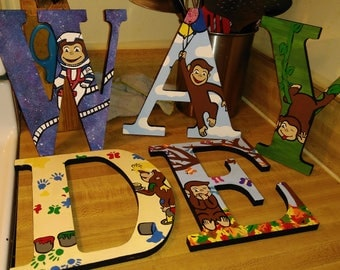 Custom Curious George letters