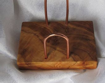 Handcrafted Olive Wood Business Card Holder- FREE SHIPPING