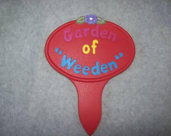 Ceramic Garden Stake Garden Decor Yard Decor Flower Garden Stake