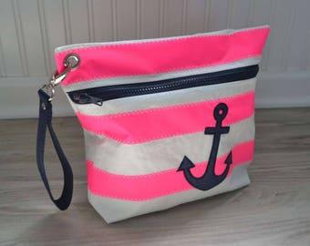 Pink striped bag
