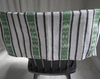 Guatemalan Towel/Napkin, Embroidered, Colorful, Boho, Textile, Custom, Maya, Stripe-Design, Cloth