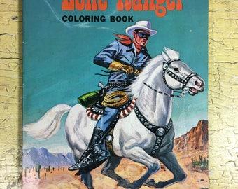 Lone Ranger Coloring Book SC (1951-1975 Whitman)
