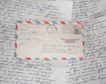Vintage Handwritten Letter from Sailboat Vacation • to Capt. & Mrs. R. L. Wakeland