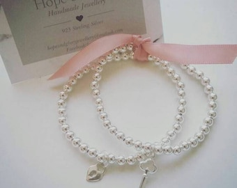 Friendship bracelets made from sterling silver.