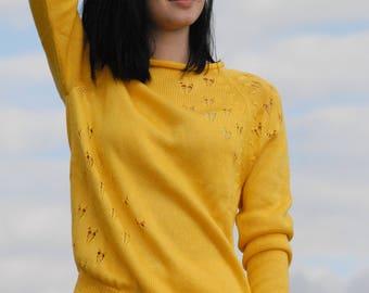 """Yellow """"ELLA"""" cotton pullover"""