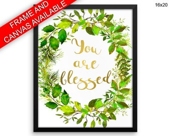 You Are Blessed Prints  You Are Blessed Canvas Wall Art You Are Blessed Framed Print You Are Blessed Wall Art Canvas You Are Blessed Nursery