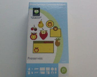 Preserves Cricut Cartridge, Complete In Box, Provo Craft, Die Cuts, Scrapbook Supplies, Cards, Gift Tags, Fruit and Vegetable Die Cuts