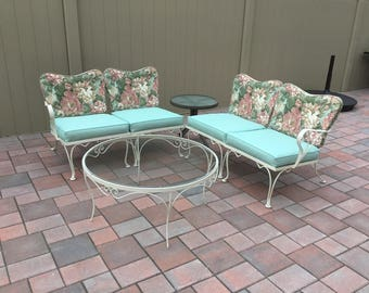 Woodard Vintage Patio Table and Seating