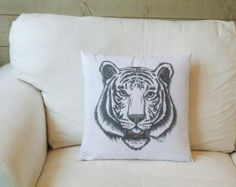 Cushion Tiger Illustration