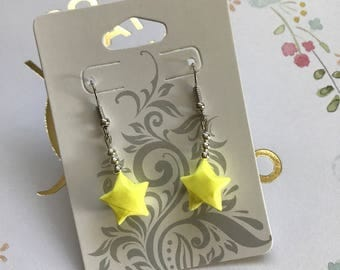 Yellow Origami Lucky Star Earring (READY TO SHIP)