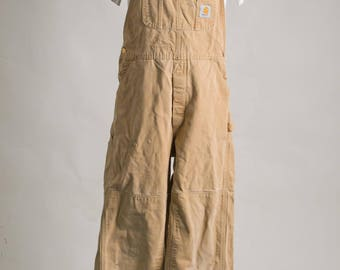 Vintage carhartt Overalls, Size 36 34 100% Cotton Made in U.S.A.