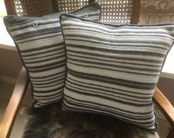 Handmade crochet pillow ca40x/40 cm