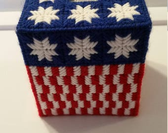 4th of July tissue box cover