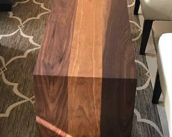 Waterfall walnut & cherry coffee table