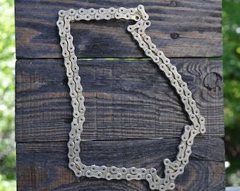 Georgia bicycle chain art