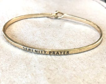 Inspired bangle Bracellet ( serenity prayer)