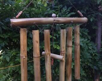 Bamboo Windchime (Large/ with Beads)