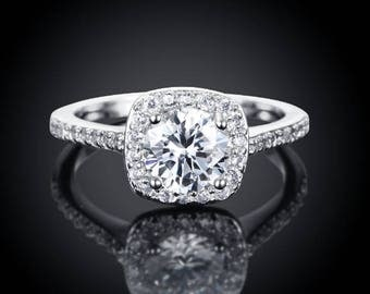 White Zircon Crystal Ring 2017
