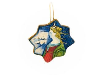 Hand painted medieval earrings
