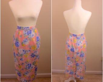 Vintage 80's Pastel Floral Skirt