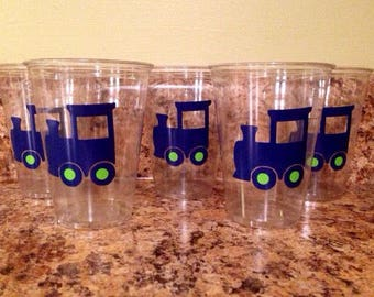 Choo choo train party cups
