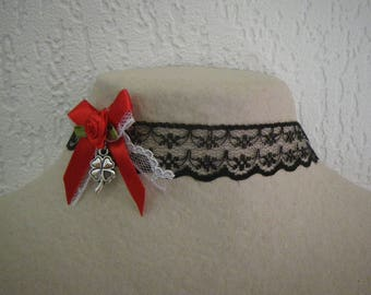 Crew neck collar lace chic & trend