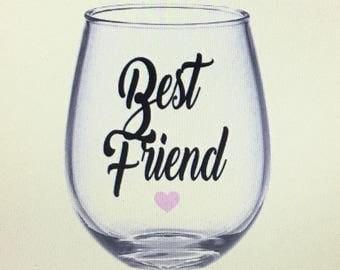 Best friend wine glass. Best friends wine glass. Best friend gift. Best friend gift. BFF wine glass. Friend wine glass. Bestie wine glass