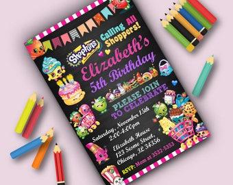 Shopkins Invitation,Shopkins Birthday,Shopkins Party,Shopkins Birthday Invitation,Shopkins Party Invite,Shopkins Invite