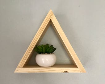 Triangle Shelf // Small Triangle Wall Hang // Geometric Decoration