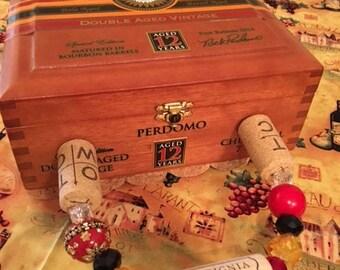 Wooden cigar box purse, women's accessories, handbag