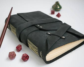 Leather Journal - Leather Sketchbook - Travel Notebook - Handmade Blank Book