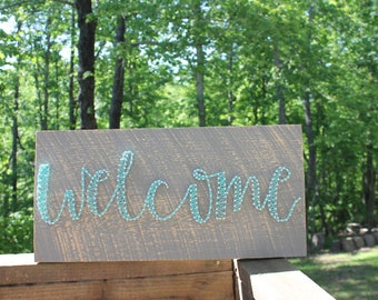 "String Art ""Welcome"" Sign"
