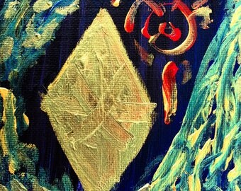 """Acrylic Painting """"Arrival of The Diamond"""""""