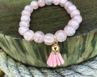 Pink Small Tassel Bracelet
