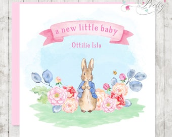 Peter Rabbit New Baby Card Little Girl