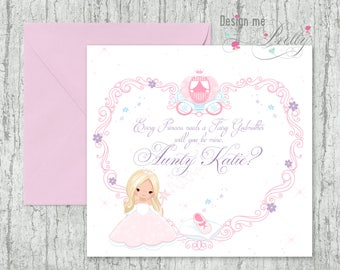 Will You Be My Fairy Godmother? personalised greeting card