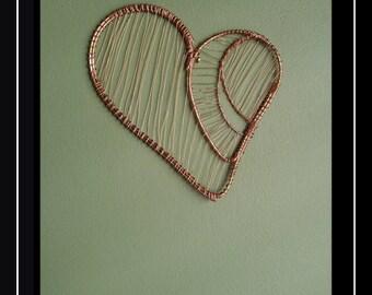 Heart Wire Art - Wall Art - Home Decor - Wall Sculpture - Wire Art - Wire Sculpture - Metal Art