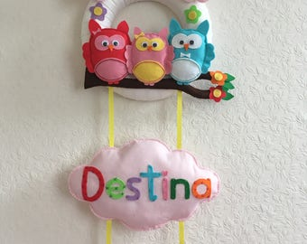 Personalised Felt Door / Wall Hanger