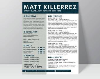 SQUIGZ - Resume // creative resume // professional resume // resume design // cv design // resume