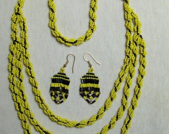 Hufflepuff bead set