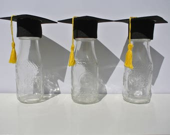 Set of Three Graduation Cap Jars