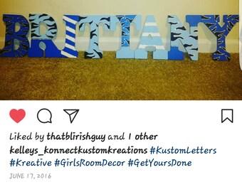 Kustom Made Blue Love Letters
